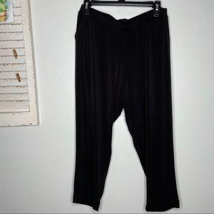 Clara Sun Woo Elastic Waist Crop Pocket Pants Sz M